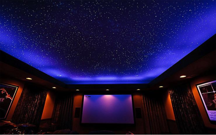 Натяжной Потолок ПВХ Звездное небо для Спальни