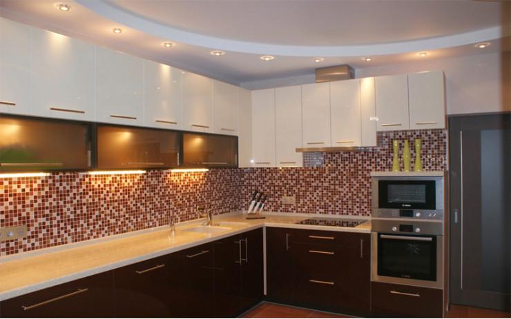 Натяжной Потолок ПВХ Двухуровневый для Кухни