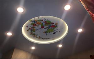 ПВХ натяжные потолки с подсветкой